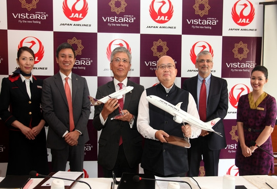 Japan Airlines and Vistara sign Memorandum of Understanding for Commercial Cooperation