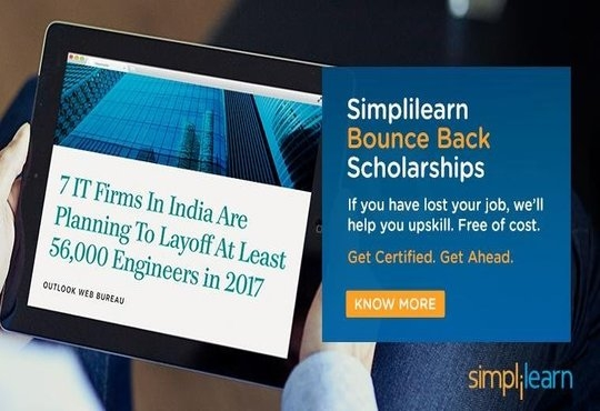 Simplilearn to offer bounce back scholarships for IT professionals in India