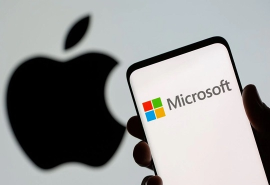 Microsoft almost overtakes Apple as most valuable company