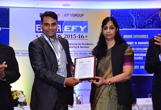 Matrix Bagged the ELCINA-EFY Awards 2015-16 for Outstanding Achievements in Research and Development