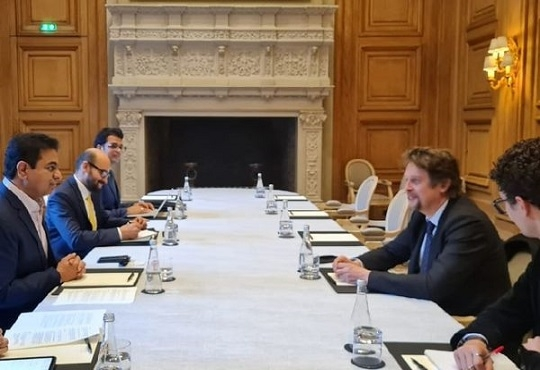 Minister K.T. Rama Rao meets French Ambassador of Digital Affairs in Paris