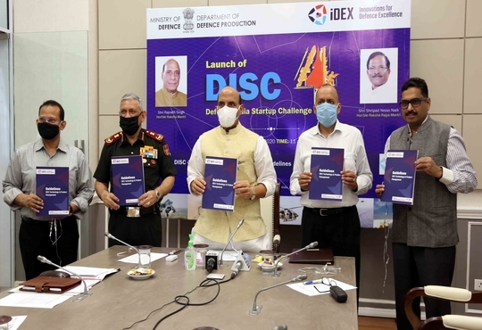 Defence Minister Rajnath Singh Launches Defence India Startup Challenge-4