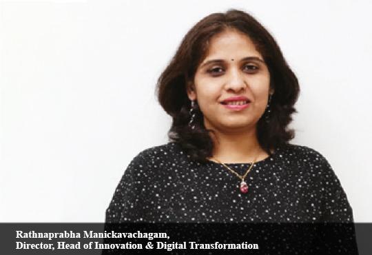Rathnaprabha Manickavachagam, Director, Head of Innovation & Digital Transformation, Societe Generale Global Solutions Center (SG GSC)